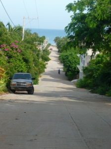 Road to beach from my apartment, Puerto Escondido